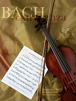 poster with violin for Bach event