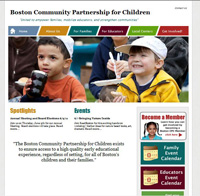 home page for Boston CPC